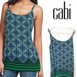 🌺2 for $25! Cabi Blue printed Tank Top #107